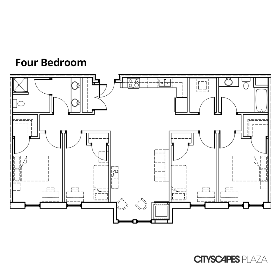 Cityscapes Plaza Four Bedroom Apartment