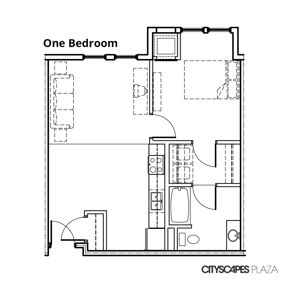 Cityscapes Plaza One Bedroom Apartment
