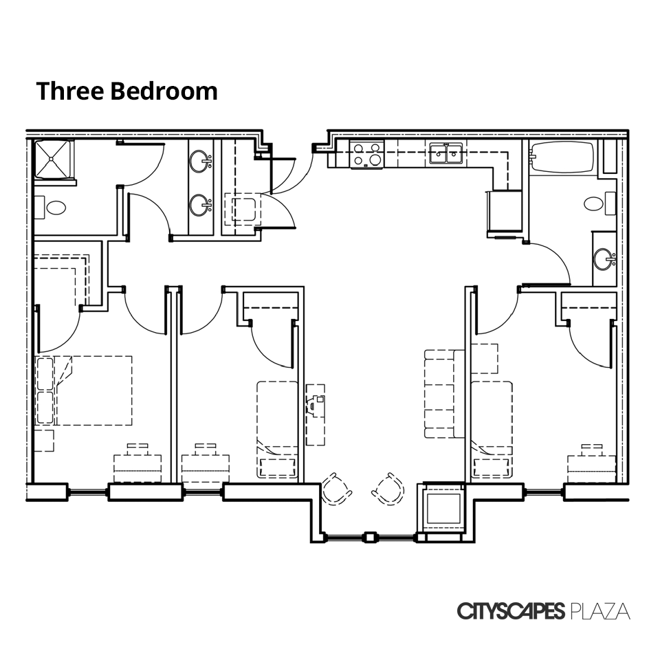 Cityscapes Plaza Three Bedroom Apartment