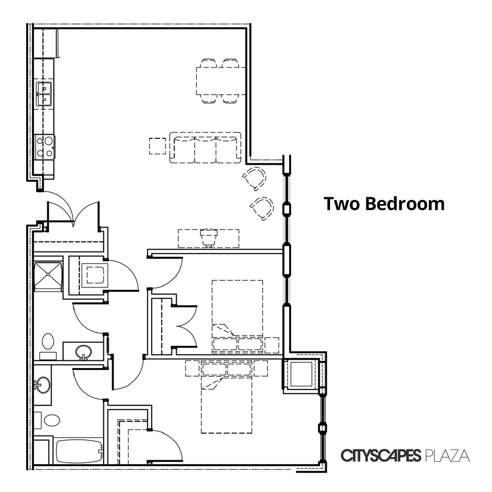 Cityscapes Plaza Two Bedroom Apartment